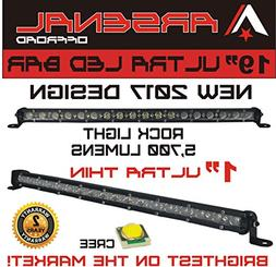 """#1 19"""" Arsenal Offroad Ultra Slim 1"""" Thick Real Cree LED's 3"""