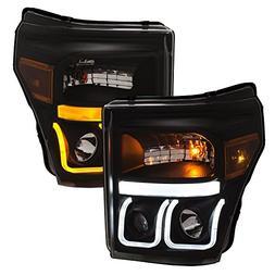 Anzo USA 111386 Projector Headlight Set w/U-Bar Switchback B