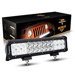 Auxbeam 12 72W CREE LED Work Light Bar 7200lm Combo Beams 24
