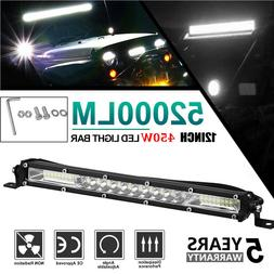 "12"" inch 450W LED Work Light Bar Combo Spot Flood Driving Of"