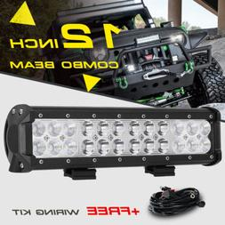 12inch 72W LED Light Bar Work SPOT FLOOD Combo Beam CREE 4WD