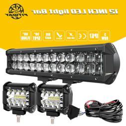 14inch LED Light Bar Work SPOT FLOOD Combo Driving Truck ATV