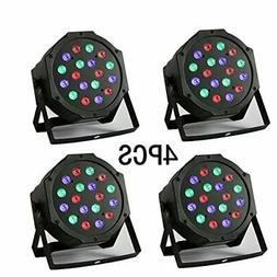 18 X 3W LED DJ Par Lights 54W RGB PAR64 DMX512 For Stage Par