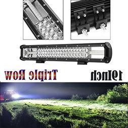 19 Inch 540W Triple Row Led Light Bar 40500LM Super Bright F