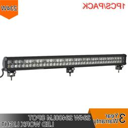 1pcs 234W LED 8D Reflector Light Bar Flood Spot Combo 12V 24