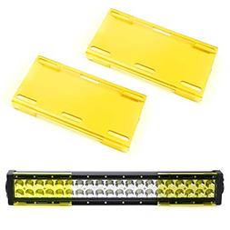 """iJDMTOY  6"""" Wide Bright Yellow Colored Double-Row LED Light"""