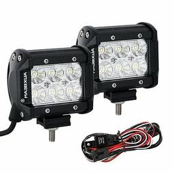 "AUXBEAM 2 PCS 18w 4"" cree LED light bar fog spot + mounting"