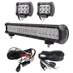 20 inch 126w flood spot combo led