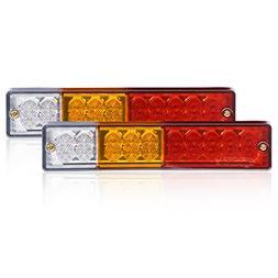 Eyourlife 20 LED Trailer Truck Tail Lights bar DC12V Red Amb