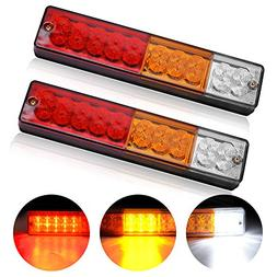 20-LED Trailer Tail Lights Bar - Waterproof DC 12V Tail/Turn