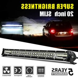 20Inch 630W Offroad LED Work Light Bar Combo  Flood Spot Tru
