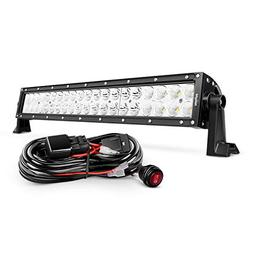 Nilight 22 Inch 120W Spot Flood Combo LED Light Bar Led Work