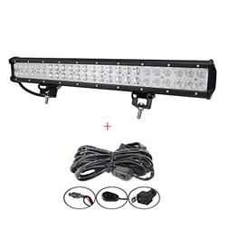 AUXTINGS 22 inch 144W Spot Flood LED Work Light Bar With Wir