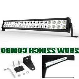 "22"" inch 280W LED Work Light Bar Combo Spot Flood Driving Of"