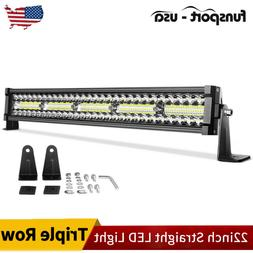 "22"" INCH 450W CURVED LED LIGHT BAR SPOT FLOOD COMBO OFFROAD"