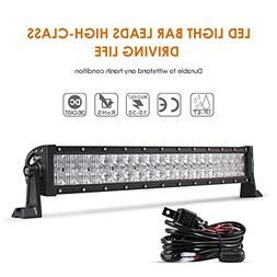 Auxbeam 22 Inch LED Light Bar Curved 120W LED Off Road Drivi