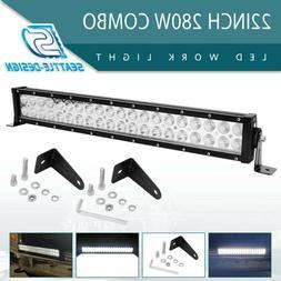 22inch 280W LED Work Light Bar Flood Spot Combo Fog Lamp Off