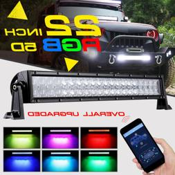 22Inch 280W CREE LED Light Bar Wireless Glow Multi Color 20/