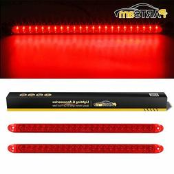 "Partsam 2PC Red 17"" 23 LED Light Bar Stop Turn Tail Third 3r"