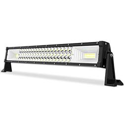 "AUTOSAVER88 24"" LED Light Bar Triple Row, Brighter 7D 270W 2"