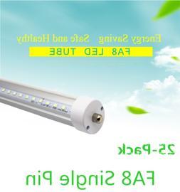 25-Pack T8 FA8 LED 8ft Tube Indoor Bar lamp Clear Fluorescen