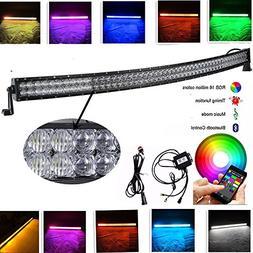 IOV LIGHT 288w 50 Inch Curved 5D RGB Light Bar 16 Million Co
