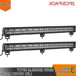 2pcs 234W LED 8D Reflector Light Bar Flood Spot Combo 12V 24