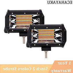 2pcs 5inch 72w offroad led light bar