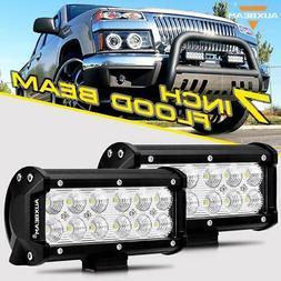 "2PCS AUXBEAM 7"" 36W Spot Beam LED Work Light Bar Fog Lamp Of"
