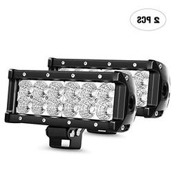 "Nilight 2pcs 7.5"" 36w Flood Led Light Bar Jeep Off Road Ligh"