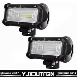2x 5INCH LED WORK LIGHT BAR Flood OFFROAD DRIVING FOG LAMP A