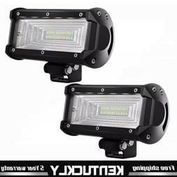 2x 5INCH LED WORK LIGHT BAR Flood OFFROAD DRIVING FOG LAMP A