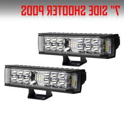 2x 6INCH 36W LED WORK LIGHT BAR SPOT OFFROAD ATV FOG TRUCK L