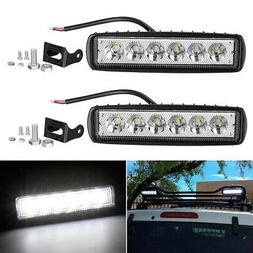 2x 6inch 36W LED Work Light Bar Spot Offroad ATV Fog Truck B