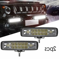 2x 6INCH 36W LED WORK LIGHT BAR SPOT OFFROAD ATV FOG TRUCK L