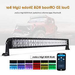 Auxbeam 32 Inch LED Light Bar RGB Multi-color Curved LED Bar