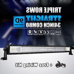 "34""INCH 1944W TRI ROW Curved LED Light Bar CREE Work Offroad"