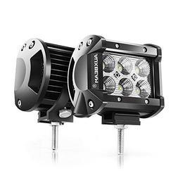 Auxbeam 2Pcs 4 18W CREE LED Work Light Bar Flood Beam 60 deg
