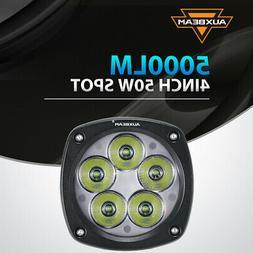 "AUXBEAM 4"" in 50W LED Work Light Bar Spot Pods Offroad Fog L"