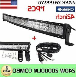 42 in 240w cree curved led light