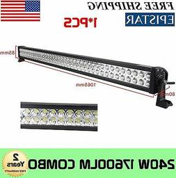 """42""""in 240W LED Work Light Bar Combo Offroad Bumper Roof Bull"""