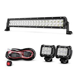 Nilight 4333221370 22Inch 120W Spot Flood Combo Led Light Ba