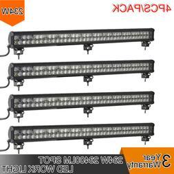 4pcs 234W LED 8D Reflector Light Bar Flood Spot Combo 12V 24