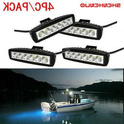 4x 6INCH 18W LED WORK LIGHT BAR FLOOD OFFROAD ATV FOG TRUCK