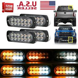 4 x12 LED Amber Truck Car Emergency Beacon Warning Hazard Fl