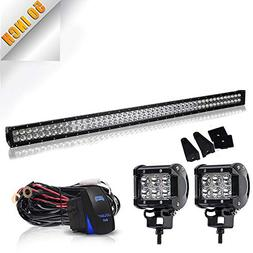 50 inch led light bar 288w flood
