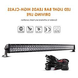 Auxbeam 52 Inch LED Light Bar Curved 300W LED Work Light Off