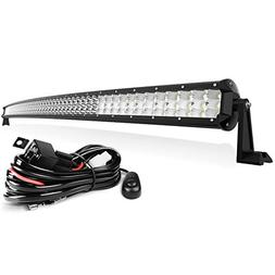 """55"""" LED Light Bar Tri-Row 50000LM 500W with Wiring Harness,"""