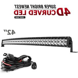 560W 42inch LED Light Bar Flood Spot Offroad 4X4 Snowmobile