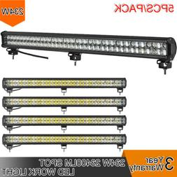 5pcs 234W LED 8D Reflector Light Bar Flood Spot Combo 12V 24